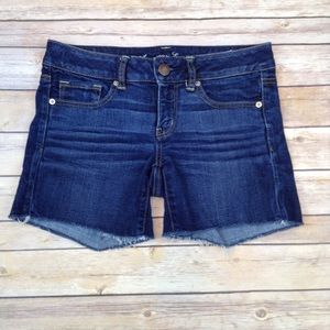 American Eagle stretch cut off denim shorts